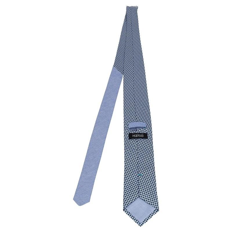 Pánská hedvábná kravata Hanio Peter - modrá