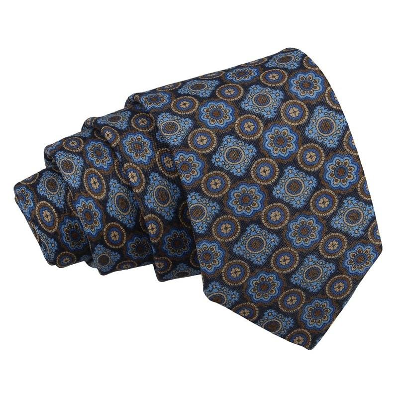 Pánská hedvábná kravata Hanio Ronald - tmavě modrá