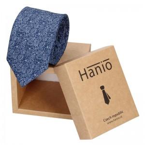 Pánská hedvábná kravata Hanio Tibor - modrá