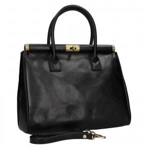 Dámská kožená kufříková kabelka Hexagona Zoe - černá