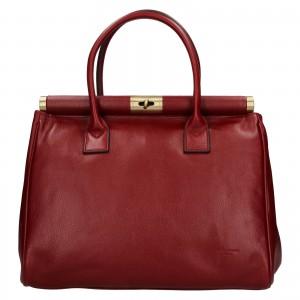 Dámská kožená kufříková kabelka Hexagona Zoe - vínová