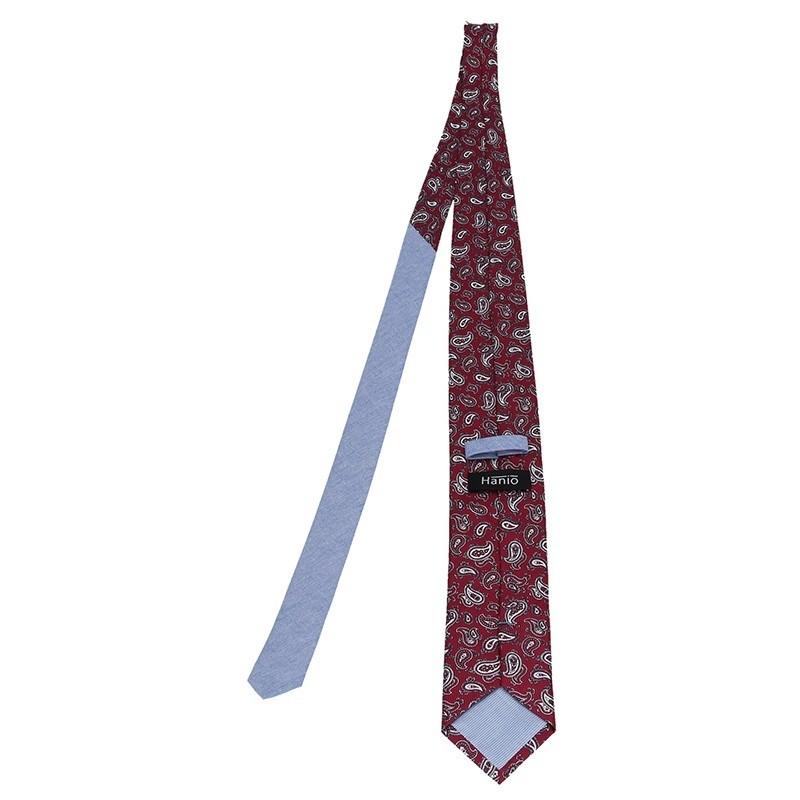 Pánská hedvábná kravata Hanio Artur - červená