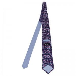 Pánská hedvábná kravata Hanio Titus - modrá