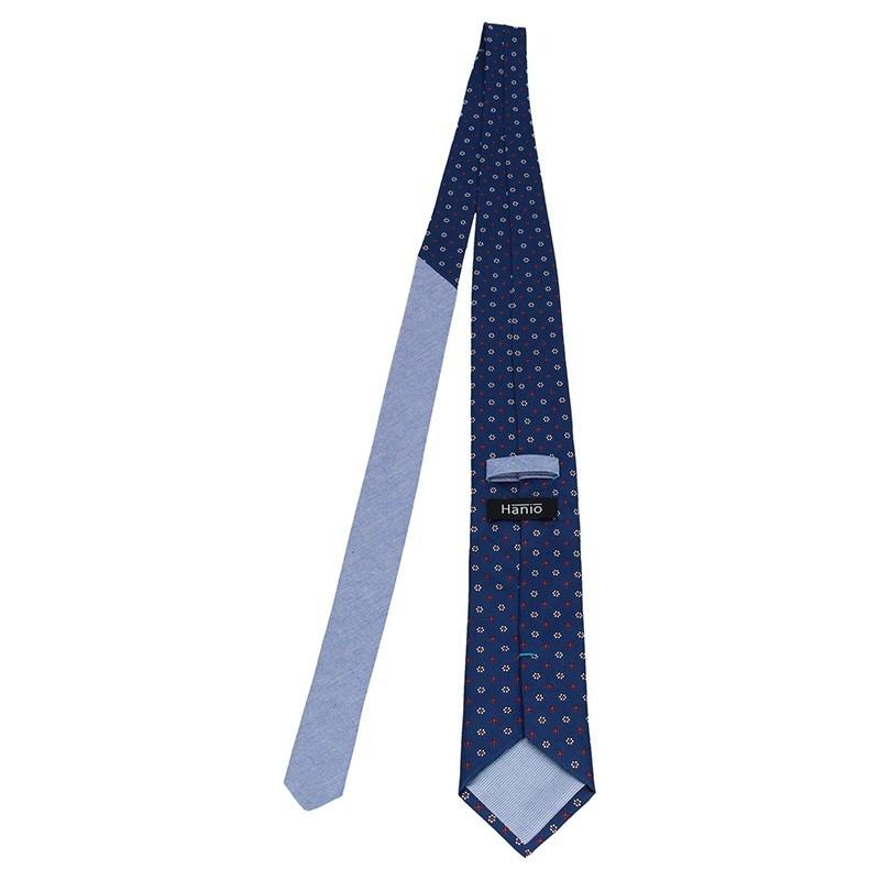 Pánská hedvábná kravata Hanio Klop - modrá