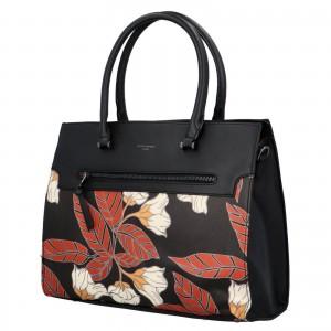 Dámská kabelka David Jones Flower - černá