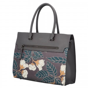 Dámská kabelka David Jones Flower - tmavě šedá