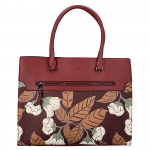Dámská kabelka David Jones Flower - vínová