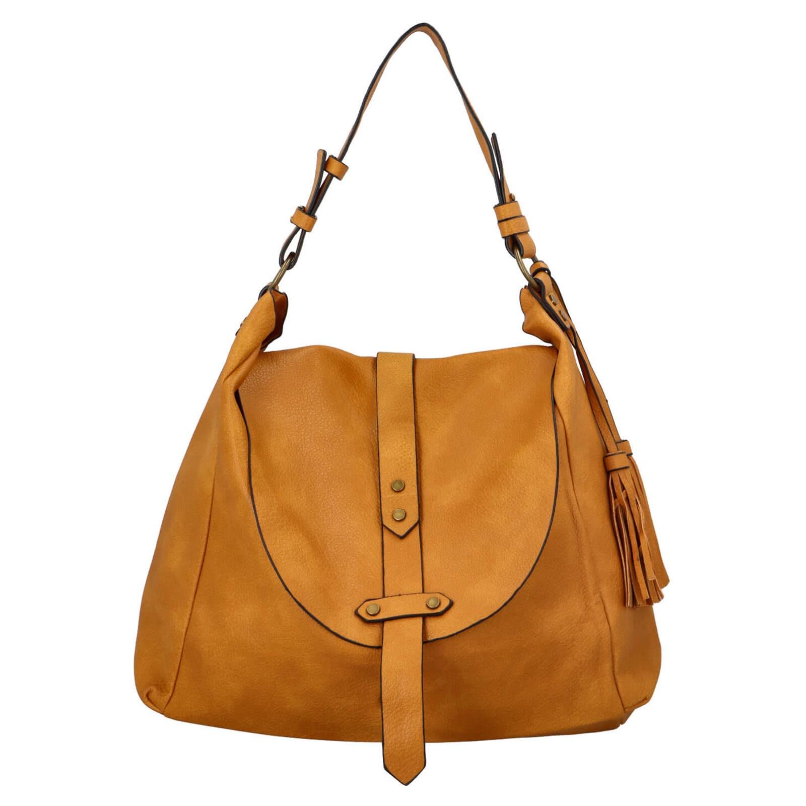 Dámská kabelka přes rameno Paolo Bags Kamila - žlutá