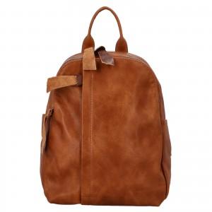 Dámský batoh Paolo Bags Alice - koňak