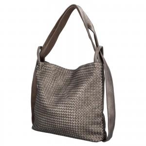 Dámská kabelka přes rameno Paolo Bags Norra - stříbrná