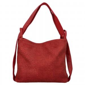 Dámská kabelka přes rameno Paolo Bags Norra - červená