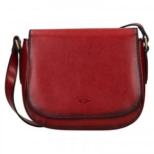 Kožená dámská crosbody kabelka Katana Klára - červená