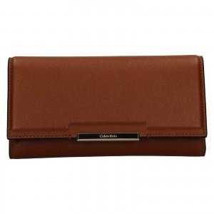 Dámská peněženka Calvin Klein Deltea - hnědá