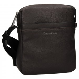 Pánská taška přes rameno Calvin Klein Levint - tmavě hnědá