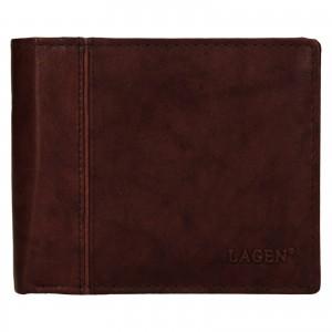 Pánská kožená peněženka Lagen Levi - hnědá