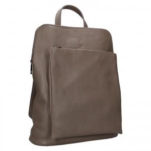 Kožený dámský batoh Unidax Marion - šedá