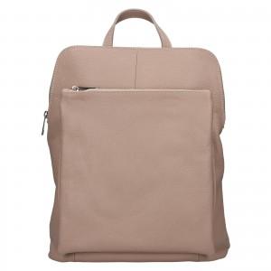 Kožený dámský batoh Unidax Marion - světle růžová