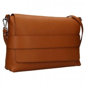 Dámská kožená kabelka Facebag Fabia - koňak