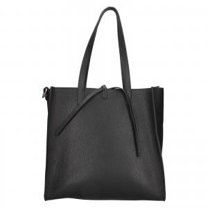 Dámská kožená 2v1 kabelka Facebag Liana - černá