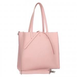 Dámská kožená 2v1 kabelka Facebag Liana - růžová