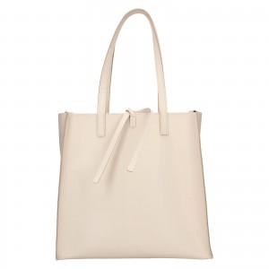 Dámská kožená 2v1 kabelka Facebag Liana - béžová