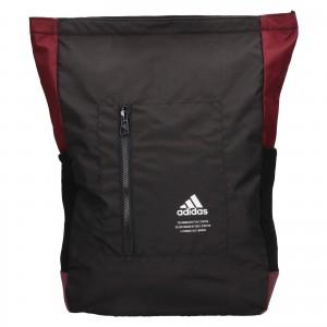 Batoh Adidas Chris - černo-vínová