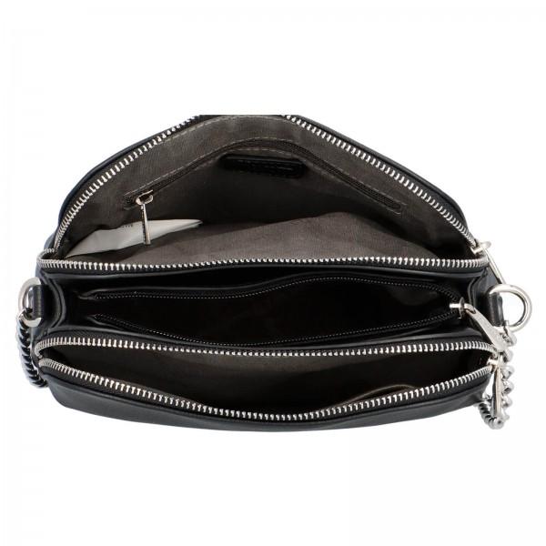 Dámská crossbody kabelka David Jones Petresca - černá