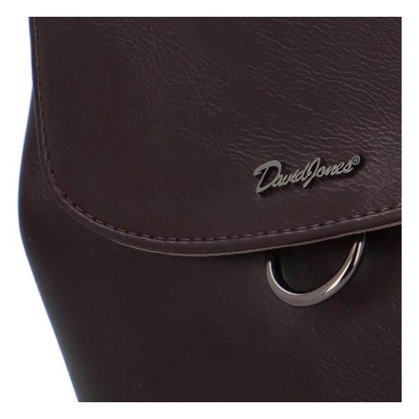 Módní dámský batoh David Jones Jennas - tmavě hnědá