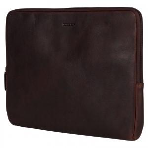 """Kožený obal na notebook 15,6"""" Burkely Gast - tmavě hnědá"""