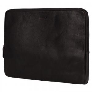 """Kožený obal na notebook 15,6"""" Burkely Gast - černá"""