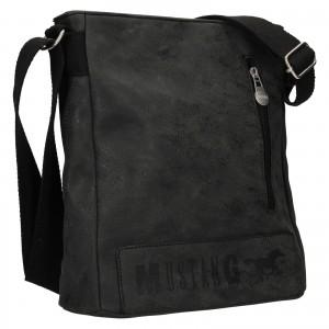 Pánská taška přes rameno Mustang Kevin - černo-šedá