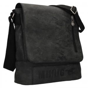 Pánská taška přes rameno Mustang Denis - černo-šedá