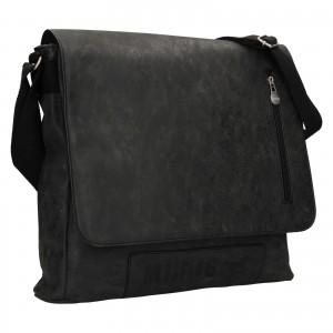 Pánská taška přes rameno Mustang Noah - černo-šedá