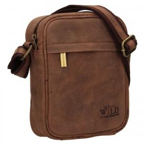 Pánská taška přes rameno Always Wild Filip - tmavě hnědá