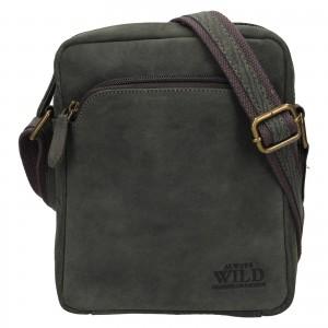 Pánská taška přes rameno Always Wild Greegor - černo-šedá