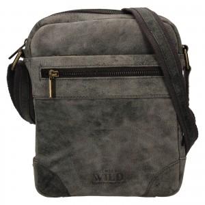 Pánská taška přes rameno Always Wild Ondrej - černo-šedá