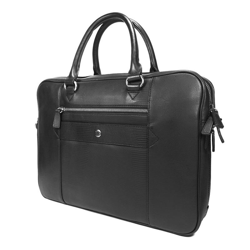 Pánská kožená taška přes rameno Hexagona 854015 - černá