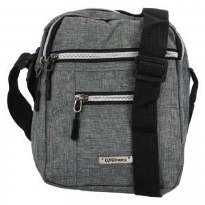Pánská taška přes rameno Coveri World Jordan - šedá