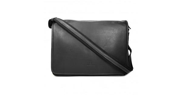 58749865ad Pánská celokožená taška přes rameno Hexagona 462817 - černá