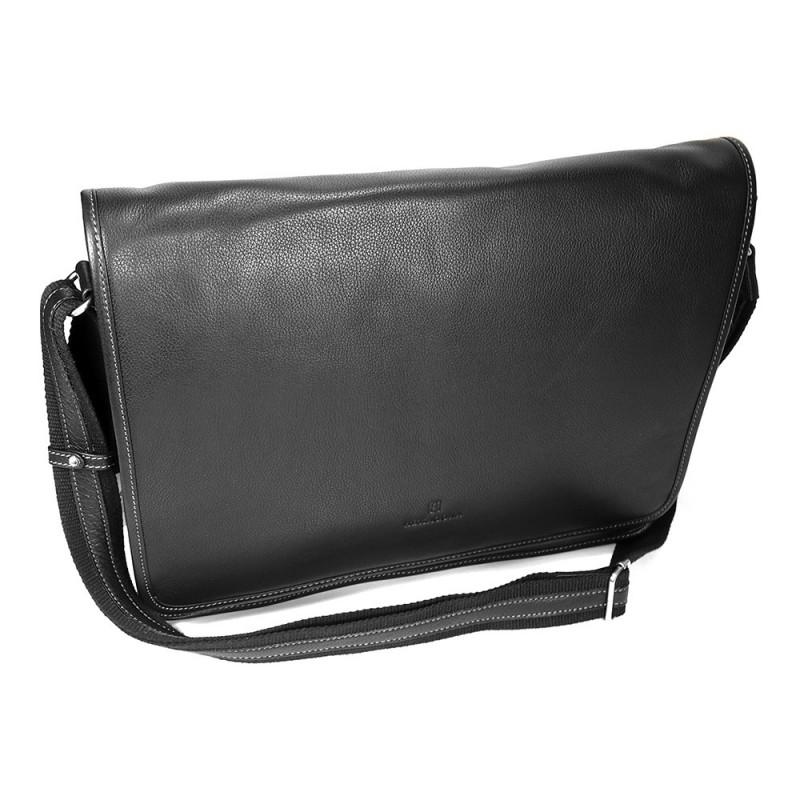 Pánská celokožená taška přes rameno Hexagona 462817 - černá