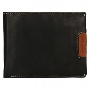 Pánská kožená peněženka Lagen Koudy - černo-hnědá