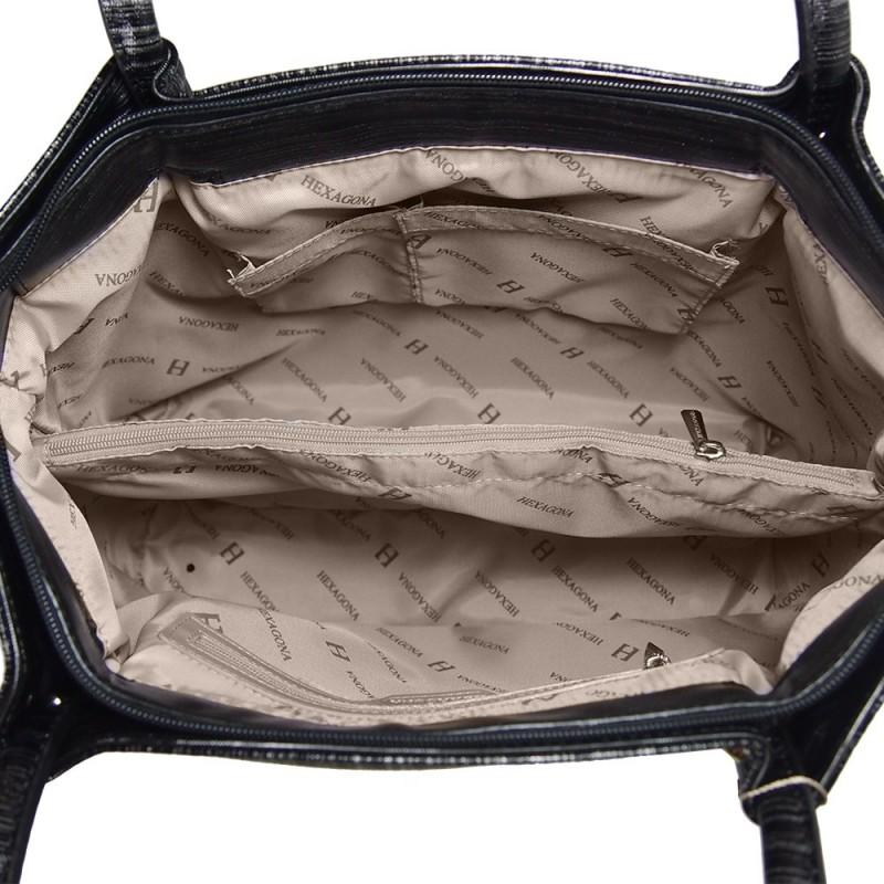 Dámská kabelka Hexagona 743965 - černo-šedá