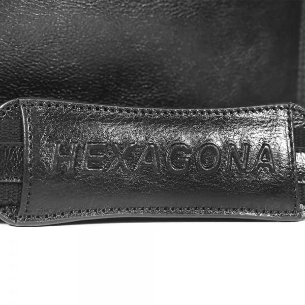 Celokožená pánská aktovka Hexagona 119074 - černá