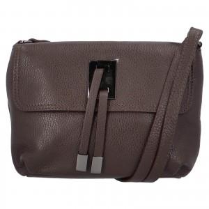 Dámská crossbody kožená kabelka Delami Salina - tmavě hnědá