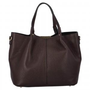 Dámská kožená kabelka Delami Verona - tmavě hnědá
