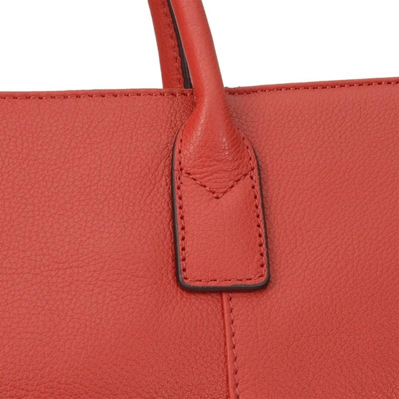 Unisex kožená aktovka Hexagona Edvin - červená