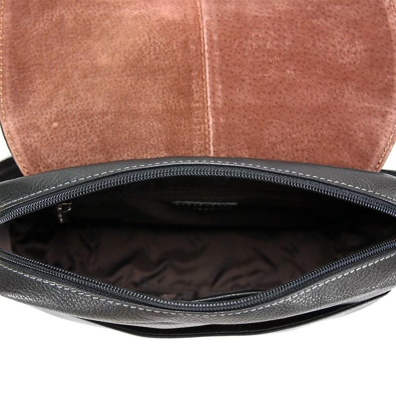 Pánská kožená taška přes rameno Hexagona 462547 - hnědá