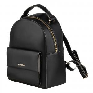 Dámský kožený batoh Burkely Renate - černá