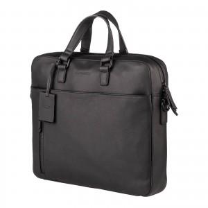 Pánská kožená taška na notebook Burkely Matis - černá