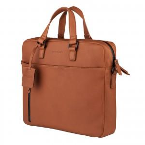 Pánská kožená taška na notebook Burkely Matis - koňak
